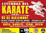 "I CAMPEONATO NACIONAL DE KARATE  ""Leyendas del Karate Peru 2017""  Lima-Perù"