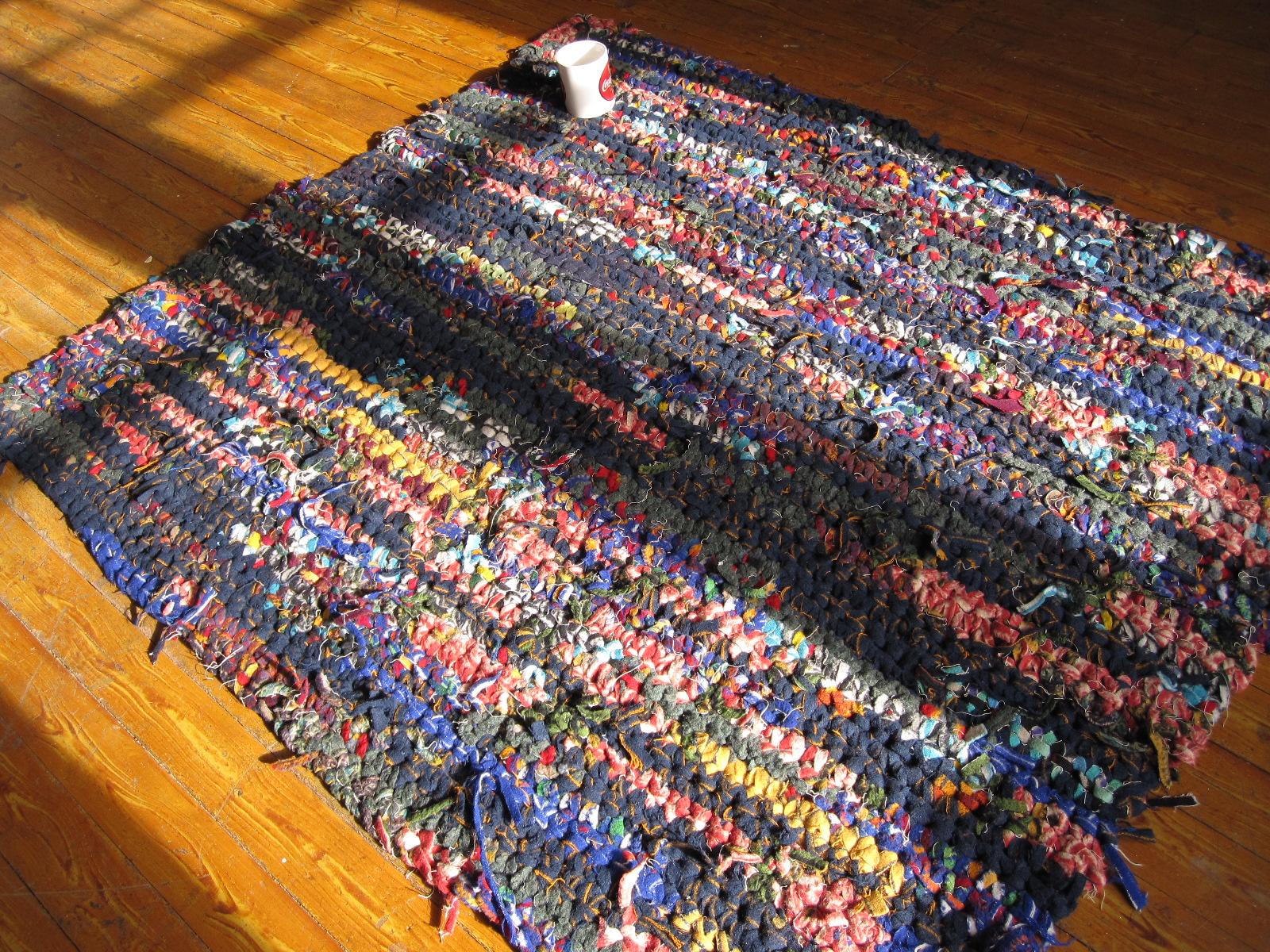 Crocheting Rag Rugs : Portland DIY: Pendleton crochet scrap wool rag rugs