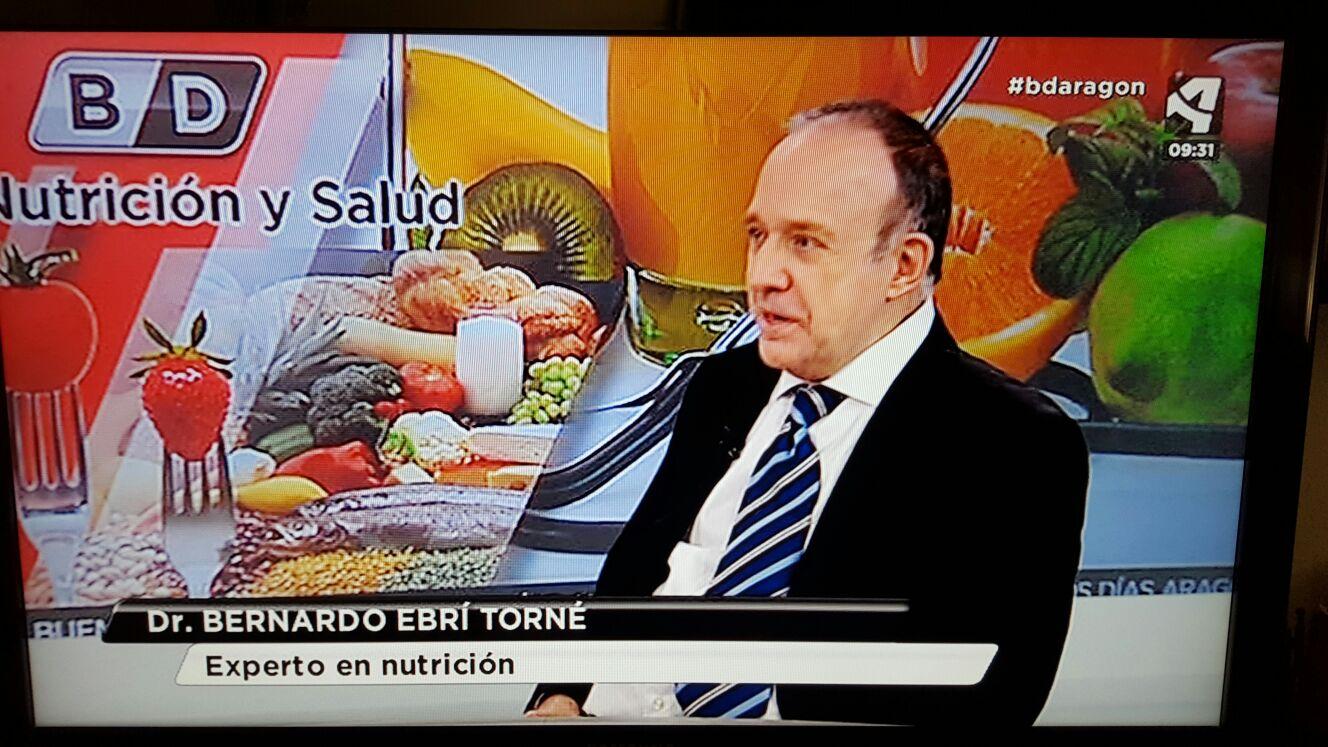 Entrevista sobre Nutrición, al Dr. Bernardo Ebrí Torné