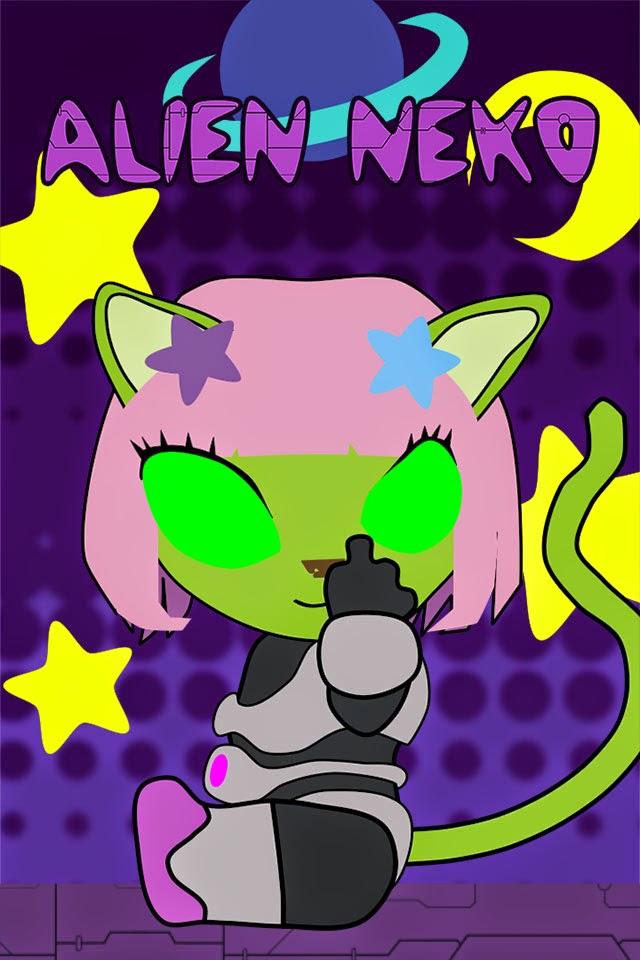 Cute iPhone 4s wallpaper anime cat