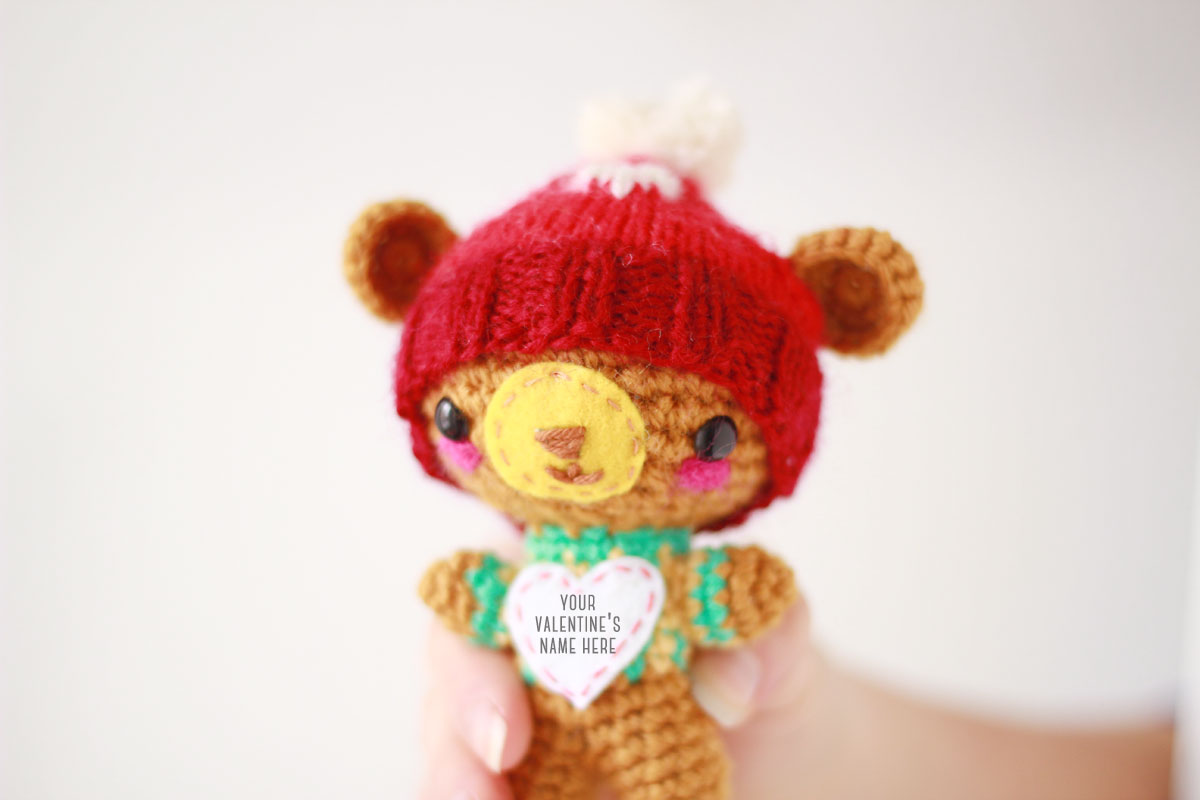 Amigurumi love bear: Personalized valentine's day gift