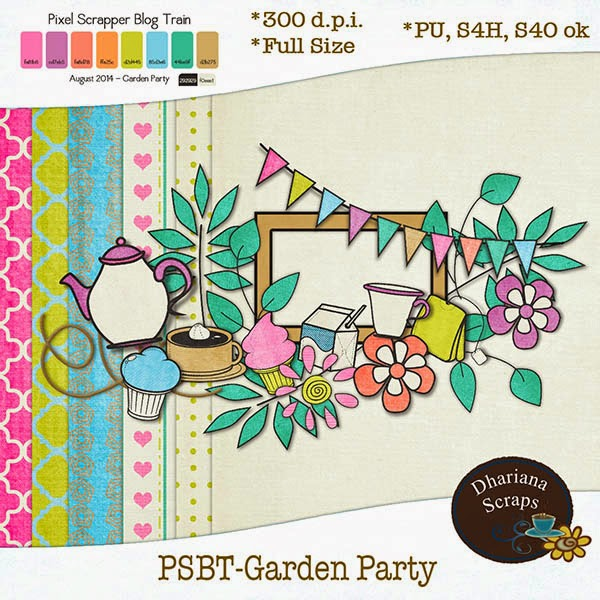 "Free scrapbook ""Garden Party"" from Dhariana Scraps"