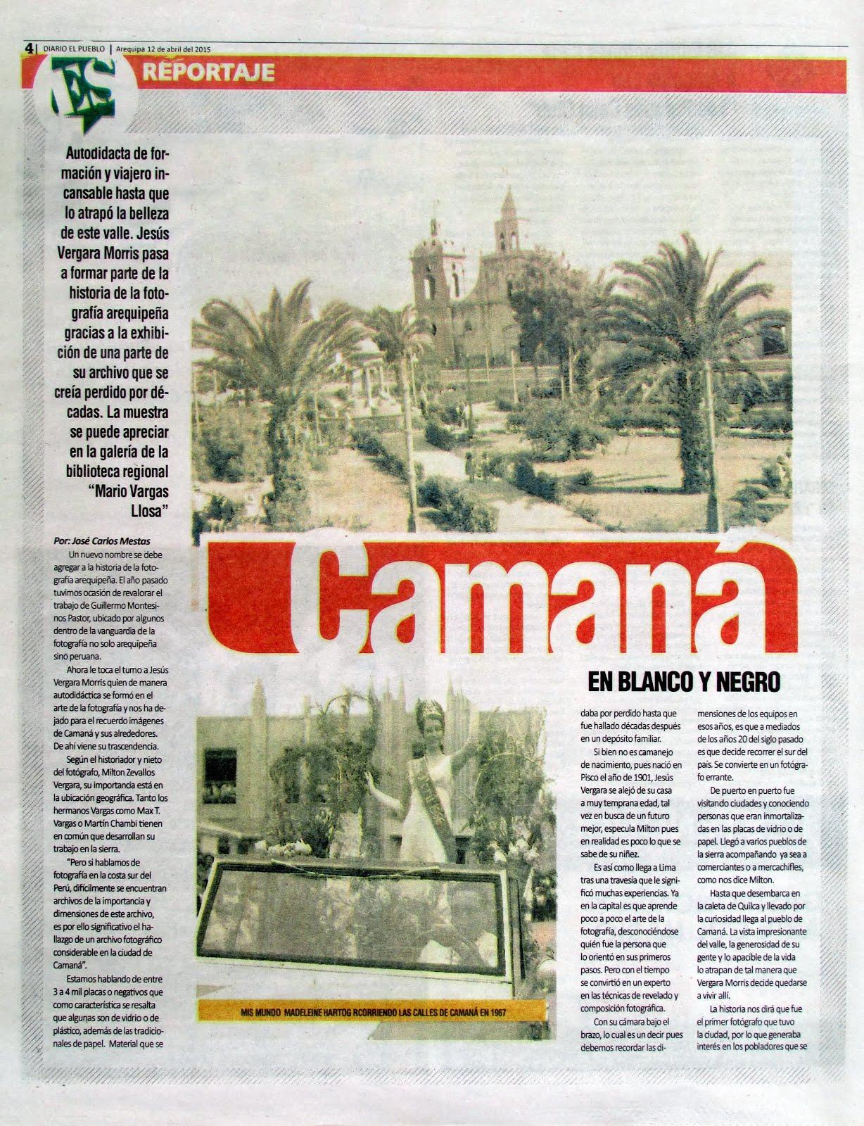 Diario El Pueblo, Suplemento Dominical. 12 de abril 2015 - 02