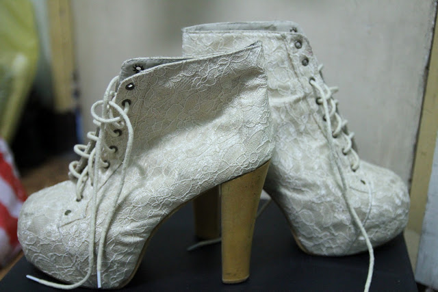 lace booties blogger