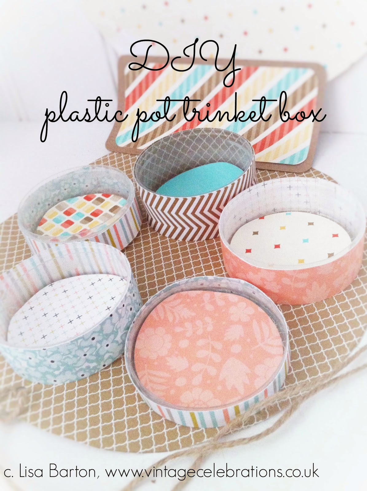 make your own plastic pot trinket box with stampin up supplies lisa barton