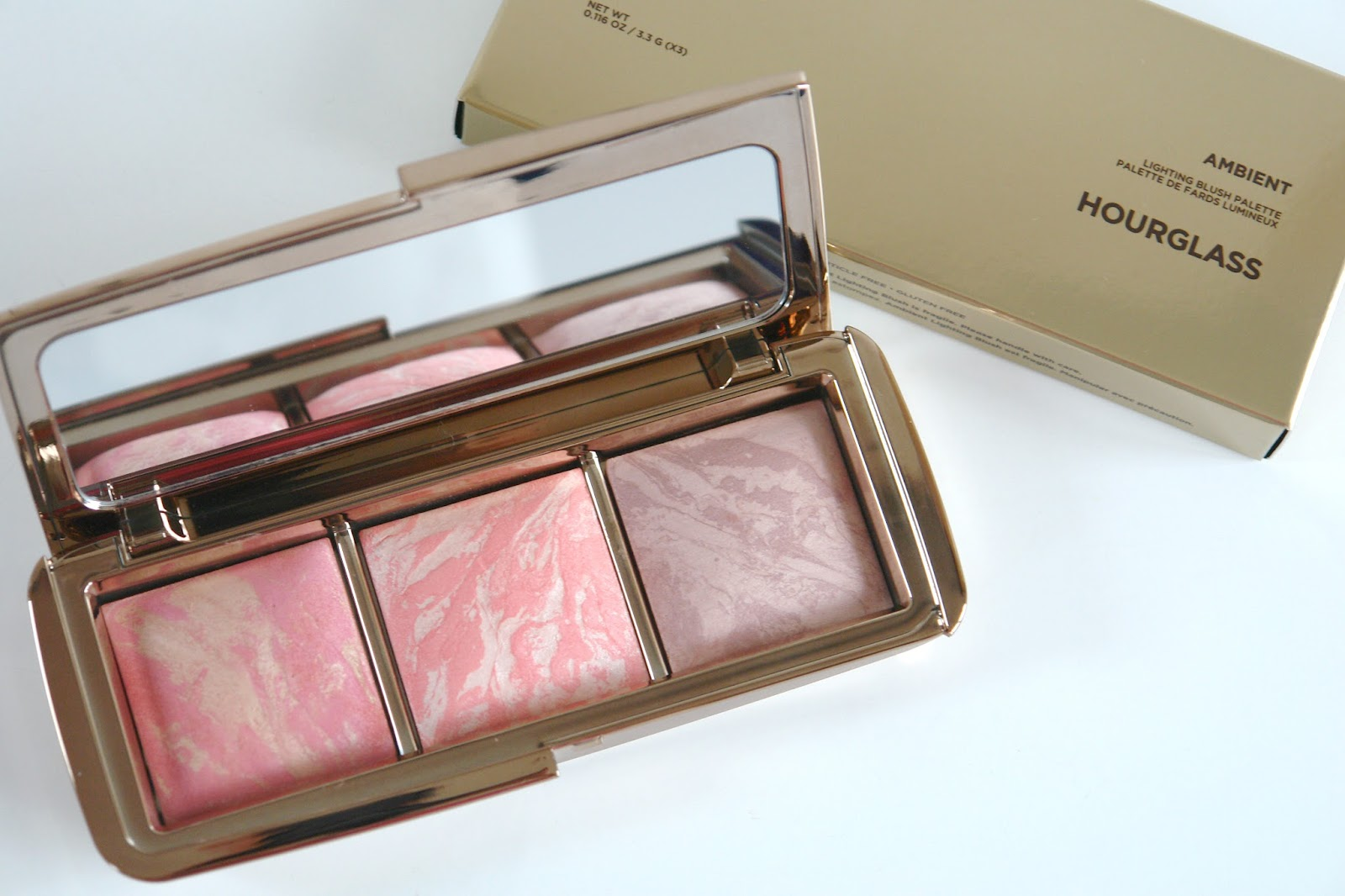 Hourglass Ambient Lighting Blush Palette review + swatches, beauty, blusher, hourglass, make up, palette, review, swatches, Luminous Flush, Incandescent Electra, Mood Exposure, blush palette, hourglass cosmetics,