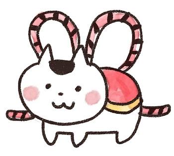 張子の犬のイラスト(お正月)
