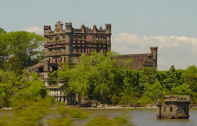 Bannerman Castle sits on Pollepel Island in the Hudson River, New York.  It is thought to be haunted by a malevolent spirit which caused a series of disasters over the ages, including the destruction of the castle.