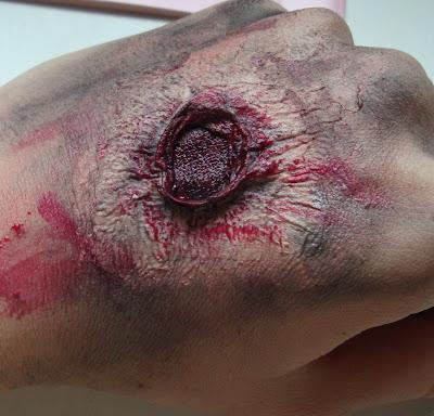 bullet wound rana postrzałowa latex lateks kryolan
