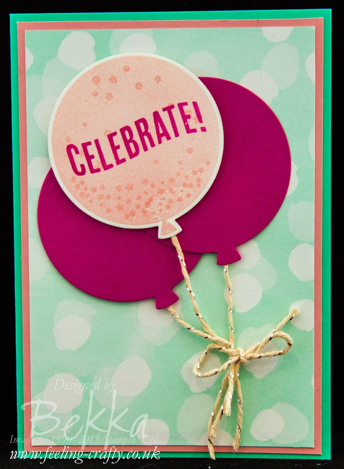 Celebrate Today with a Beautiful Balloon Card - check out this blog