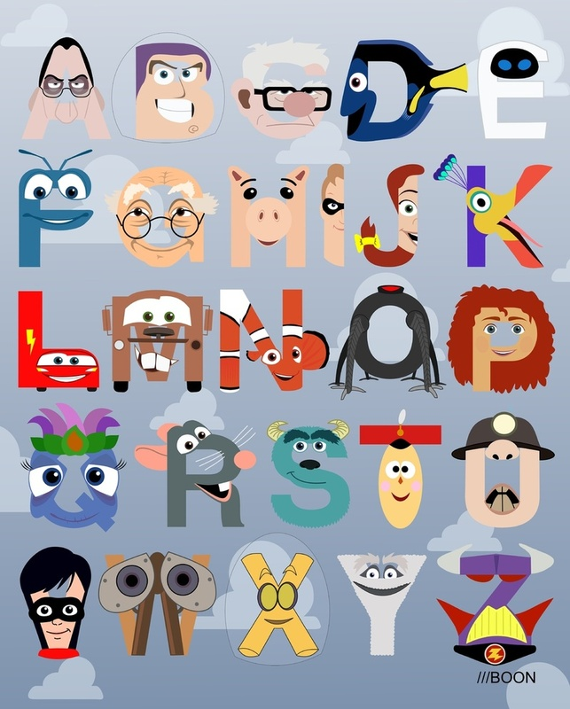 Cartoon Characters Names That Start With N : Pixar corner the alphabet
