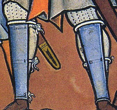 Polainas o grevas Esquinelas+med+s.XIII