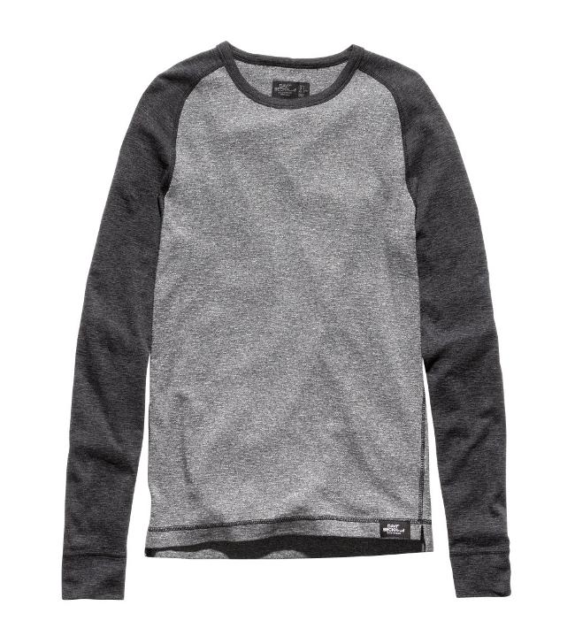 camiseta gris con mangas a contraste beckham
