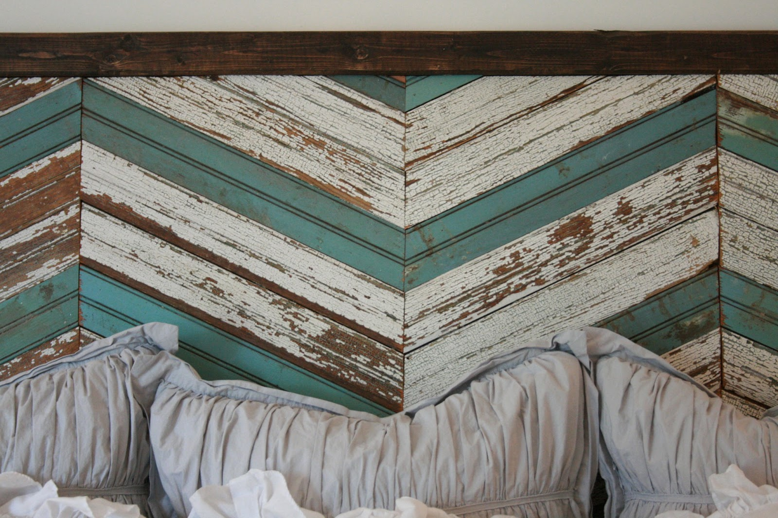 memorial day and a reclaimed wood headboard