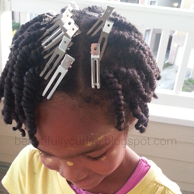 Beautifully Curled: Two Strand Twists with a Puff