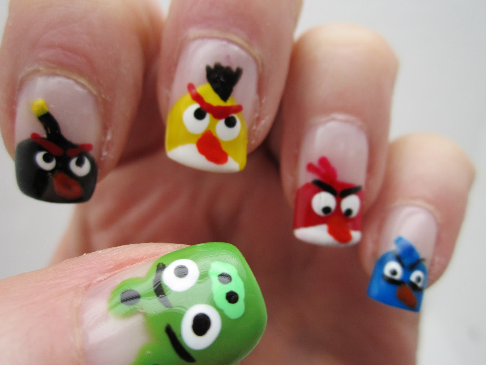 Creative Nail Design by Sue: Angry Birds