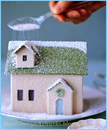 Новогодний домик из картона своими руками