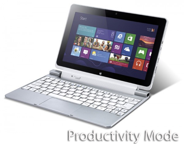 Acer Iconia Tab W510 productivity mode