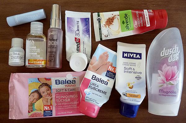 Aufgebrauchte Kosmetik im Juni