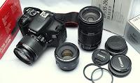Jual Canon EOS 600D bekas Paket Beberapa Lensa