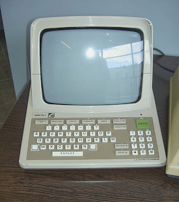 A sleek, well designed Minitel terminal for French homes