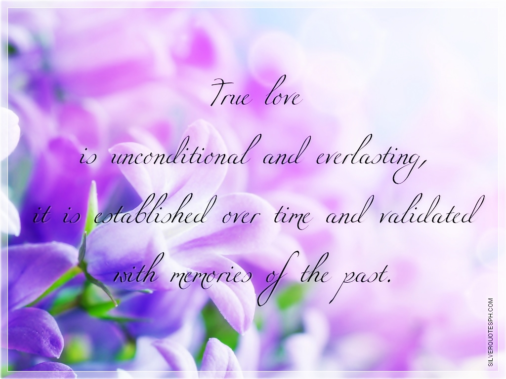Everlasting Love Quotes True Love Is Unconditional And Everlasting  Silver Quotes