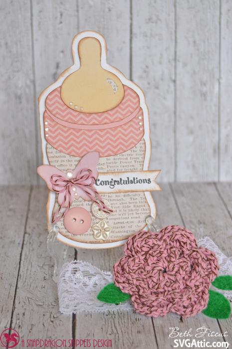 Baby Bottle Cupcake Cake