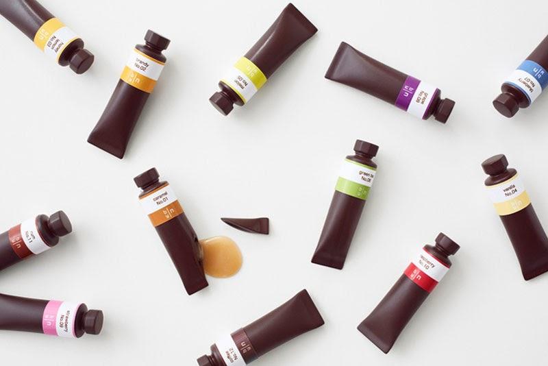 pinturas al oleo de chocolate creadas por Nendo para Seibu