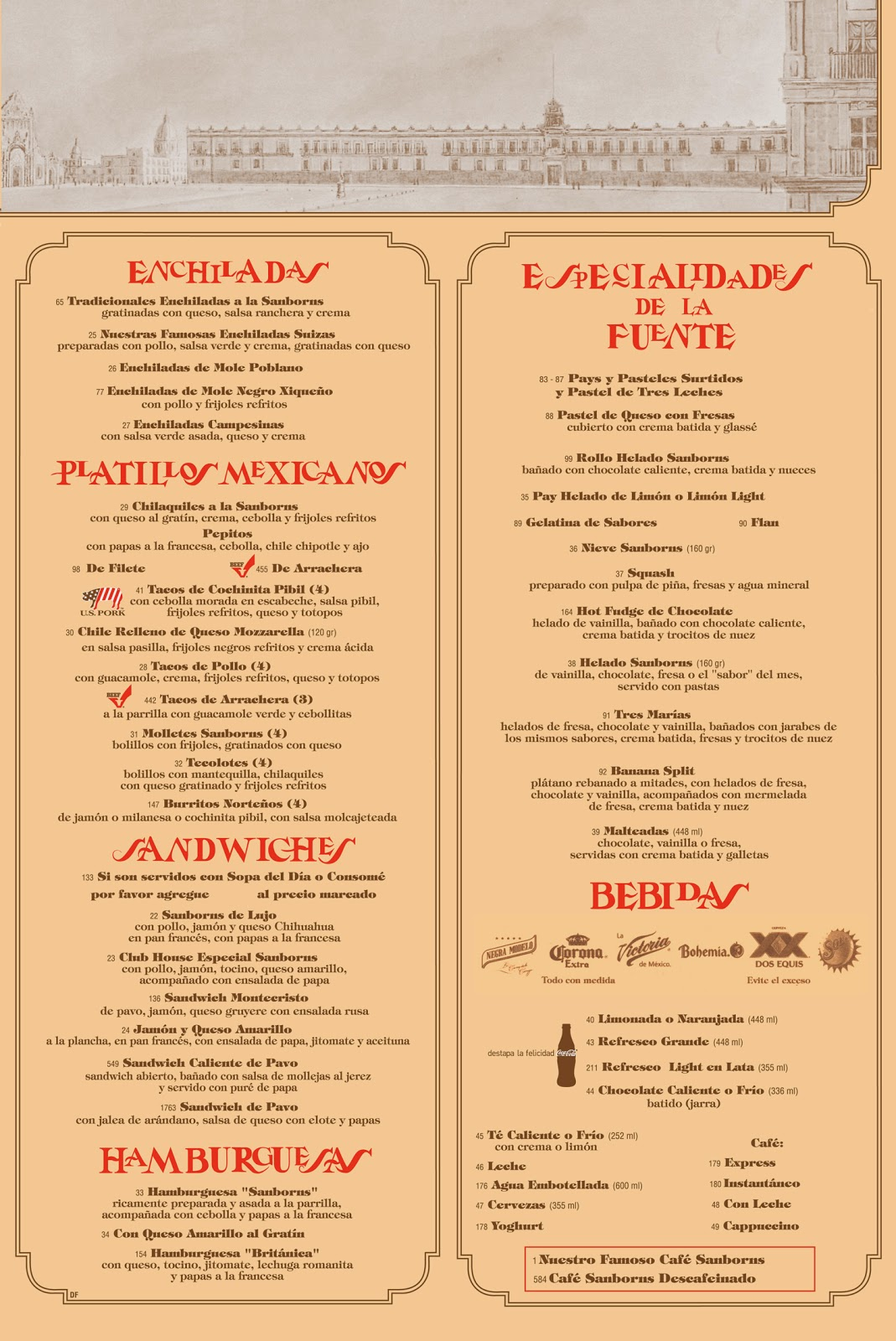 Eat world los azulejos sanborns m xico d f for Sanborns de los azulejos menu