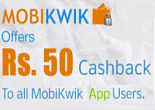 Mobikiwik Recharge offers: Get Rs. 25 Cash back on Rs.5 on Mobile & DTH Recharge