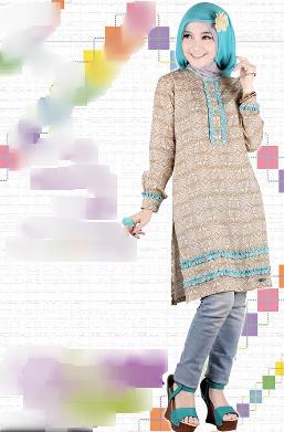 Poto Model Desain Baju Batik Muslimah