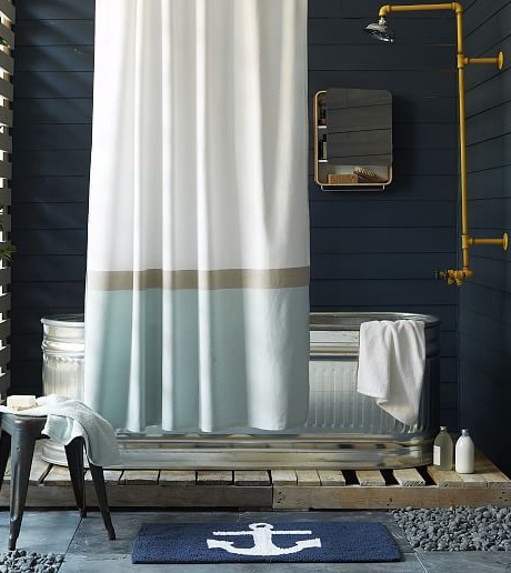 Nautical Bathroom Accessories In Blue And White