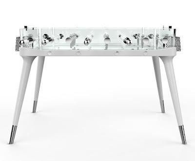 Diseño de mesa de futbolito o futbolin