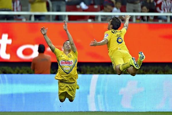 América golea a las Chivas (0-4) en el Clásico del futbol mexicano del torneo Clausura 2014 | Ximinia