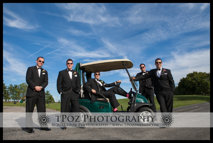 Groomsmen Golf Cart Hillendale Country Club