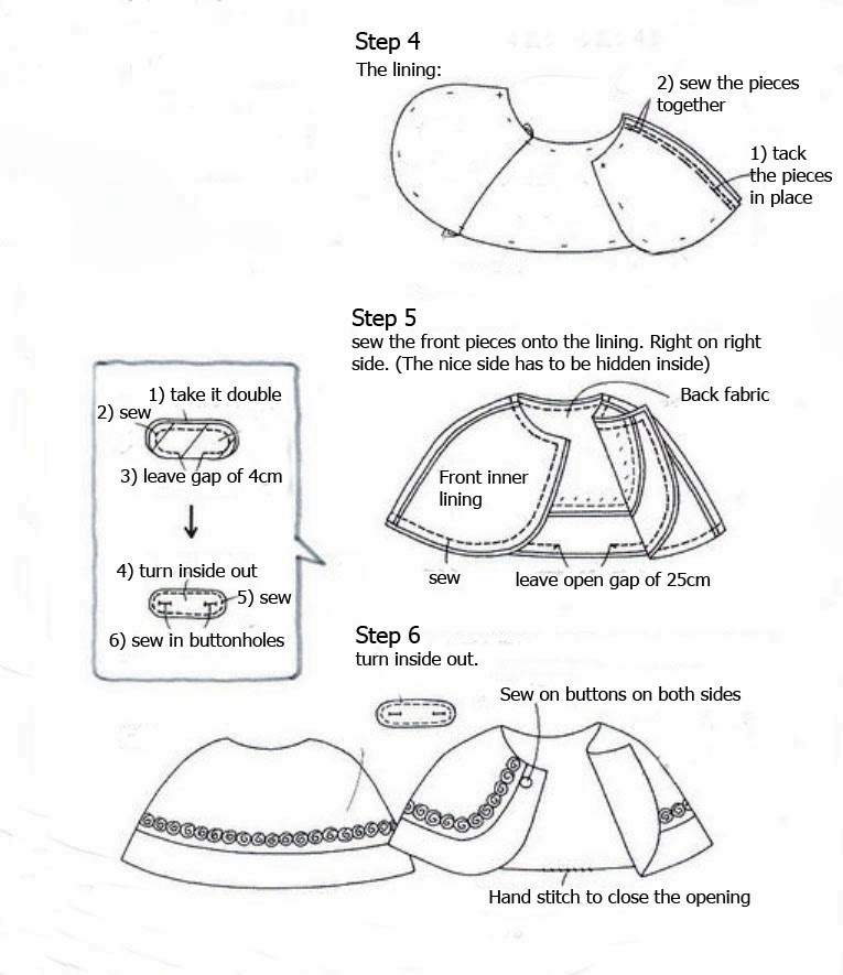 Tutorial - sweet Lolita cape - Silver Afternoon - Auris Lothol