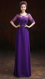 Pearl Beaded Half Sleeve Embroidered Lace Evening Dress