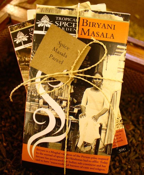 Tropical Spice Garden spice masala gift with garam masala, biryani masala, korma, chinese 5 spice in penang, malaysia