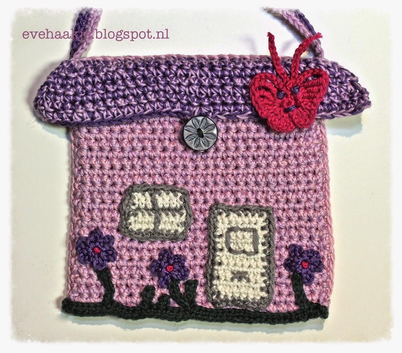 Haken En Kralen Little Tiny House Bag Free Crochet Pattern