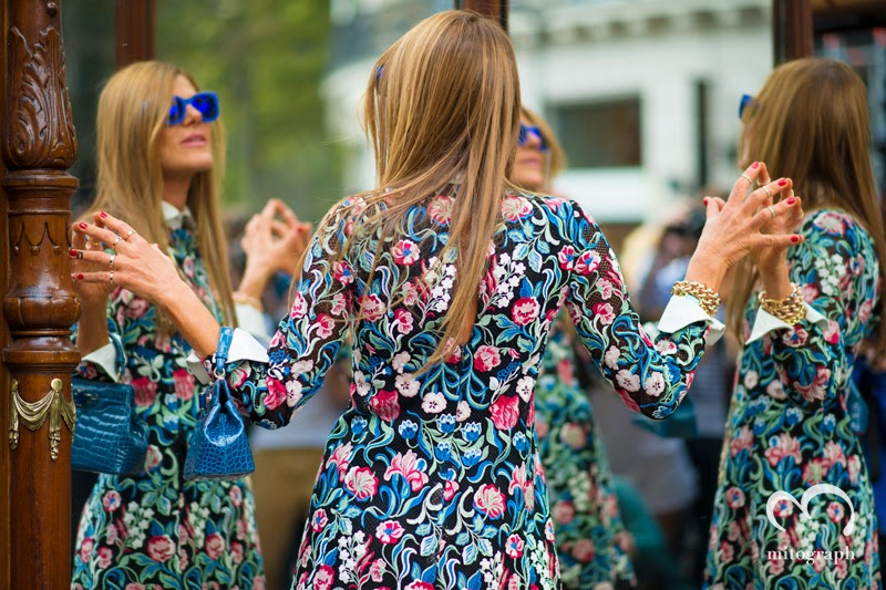 mitograph Anna Dello Russo Before Balmain Paris Fashion Week 2014 Spring Summer PFW Street Style Shimpei Mito