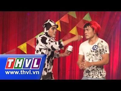 Tiểu phẩm Người Chó ... Chó người do Lê Dương Bảo Lâm và Nguyễn Huỳnh Nhu biểu diễn