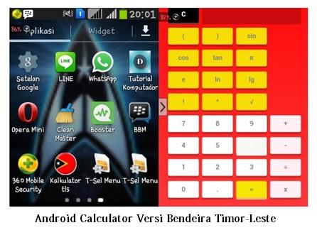 Aplikasi Kalkulator Android Versi Bendera Timor-Leste
