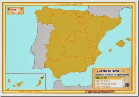 Mapa cabos España.