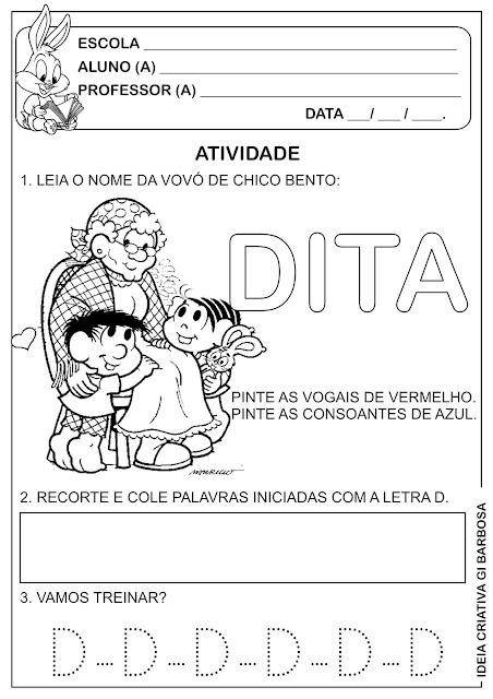 Atividade Letra D Dia dos Avós