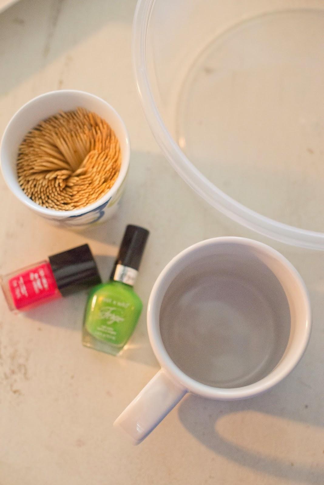 Diy Coffee Mugs With Nail Polish Coffee Mugs Nail Polish