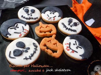 biscotti per halloween: vampiri, zucche e jack skeletron da paura!!!!!