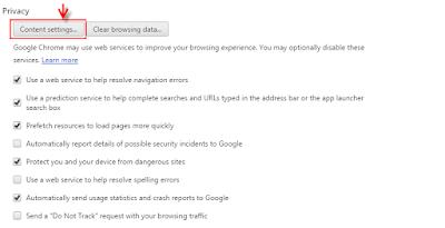 mengaktifkan javascript di browser google chrome