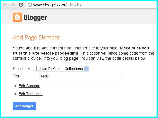 how to add feedjit to blogger