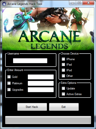 Arcane Legends Hack Tool New Version 2013