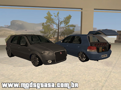 Fiat Palio ELX 2010 Grafitti Edit para GTA San Andreas